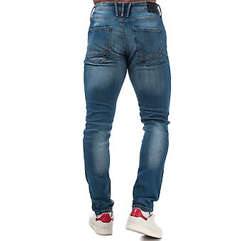 Mens Duck And Cover Maylead Slim Fit Jeans In Denim- Zip Fly- Five Pocket