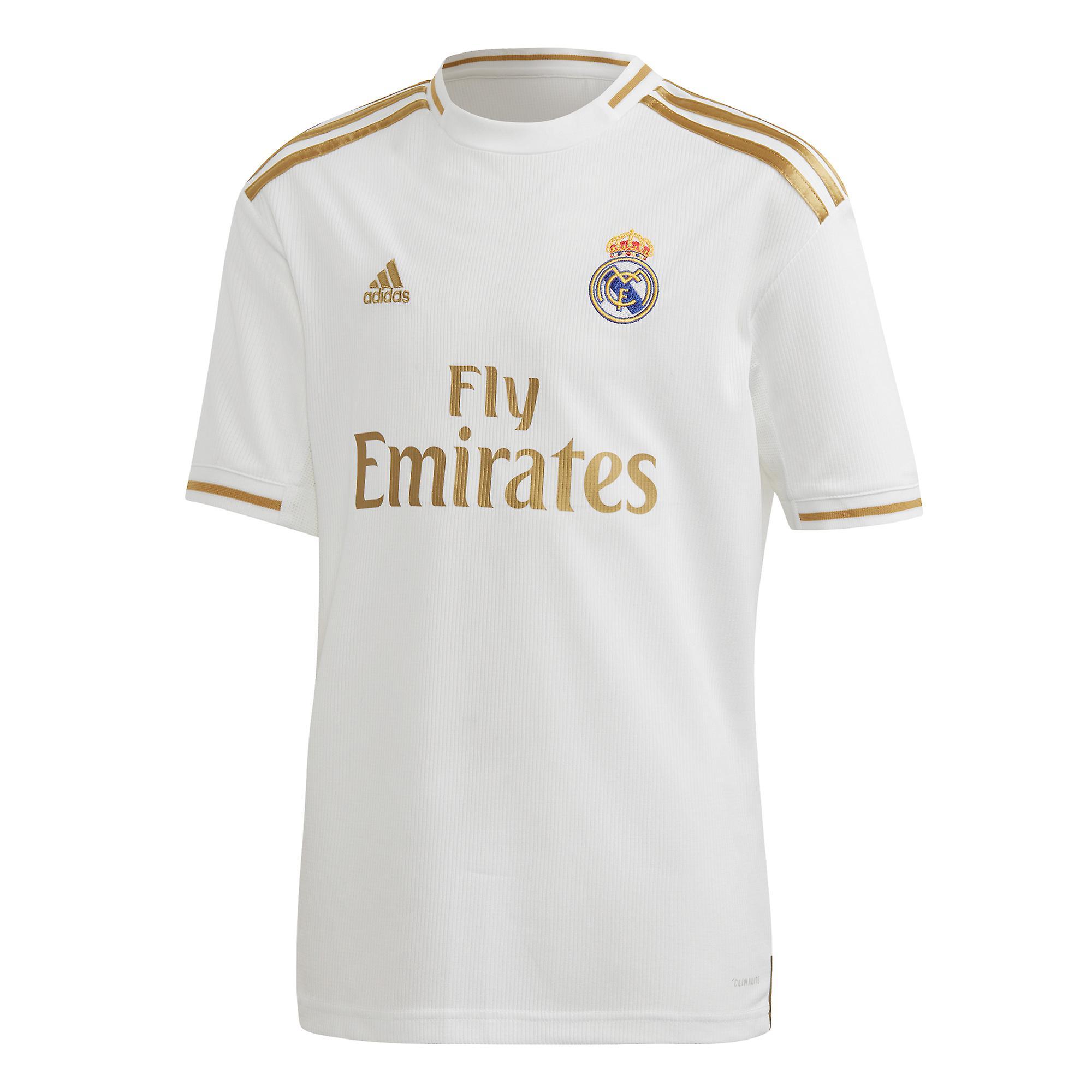 huge selection of 89fa6 3b061 adidas Real Madrid 2019/20 Kids Football Home Kit Set White/Gold