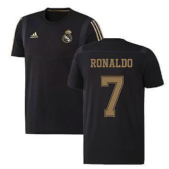 2019-2020 Real Madrid Adidas Training Tee (Black) (RONALDO 7)