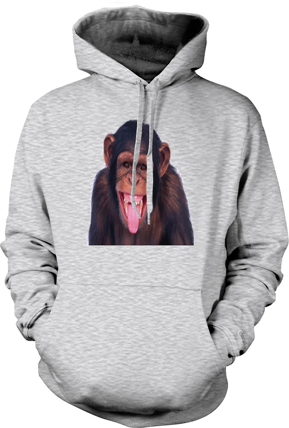 Mens Hoodie - Cheeky Chimp Funny Face