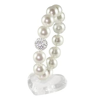 Éternelle Collection La Perla blanc South Sea Shell perle Bracelet extensible