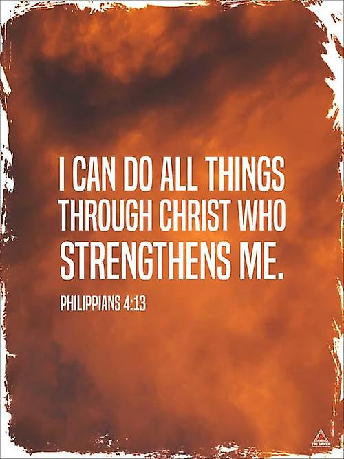Philippians 4:13 Poster I Can Do All Things Bible Scripture Verse Quote Wall Art (18x24)