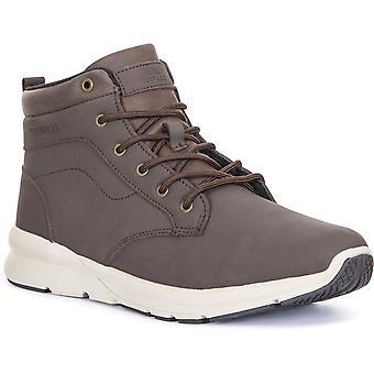 Trespass Mens Carlan Light Mid Cut Leather Walking Boots