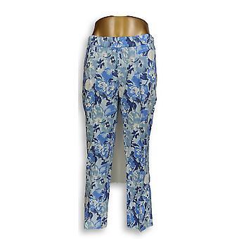 Isaac Mizrahi Live! Women's Petite Pants Brushed Sateen Skinny Blue A302403