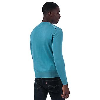 Mens Pretty Green Seasonal Hinchcliffe Knit Sweat en bleu