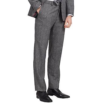 Dobell Mens svart-hvitt Tweed bukse passer vanlig til prins av