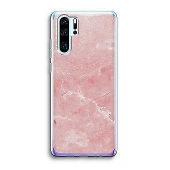 Huawei p30 pro caso transparente (Soft)-mármore rosa