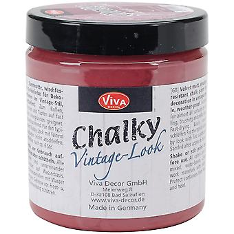 Viva Decor Chalky Vintage-Look Paint 8oz-Bordeaux VD1196-40450