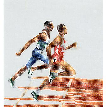 Athlete Runners On Aida Counted Cross Stitch Kit 6 1 4