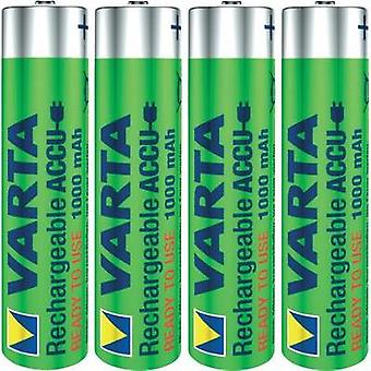 AAA battery (rechargeable) NiMH Varta Ready2Use HR03 100