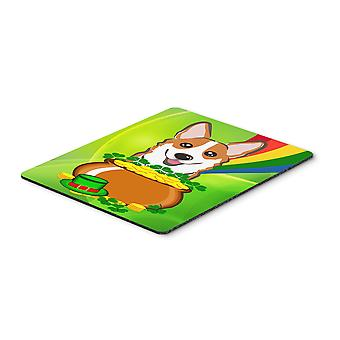 Red Corgi St. Patrick's Day Mouse Pad, Hot Pad or Trivet BB1998MP