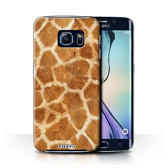 STUFF4 Case/Cover voor de Samsung Galaxy S6 Edge/Giraffe/dier bont patroon