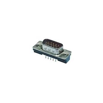 D-SUB pin strip 180 ° Number of pins: 15 Print TE Connectivity AMPLIMITE HD-22 1 pc(s)