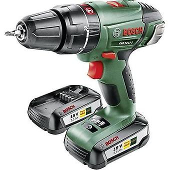 Bosch Home and Garden PSB 18 LI-2 Cordless impact driver 18 V 2.5 Ah Li-ion incl. spare battery, incl. case