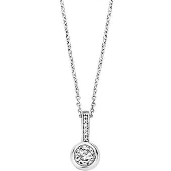 Necklace and pendant Ti Sento 6739ZI - necklace and pendant Crystal white woman