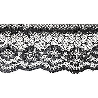 Ruffled Daisy Lace Trim 1-5/8