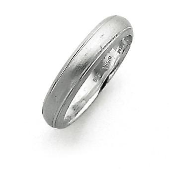 Sterling sølv 4mm Satin Finish Band Ring - ringstørrelse: 4-12