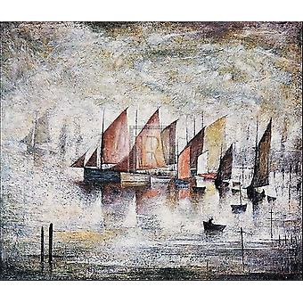 Sailing Boats 1930 Poster Print by LS Lowry (24 x 20)