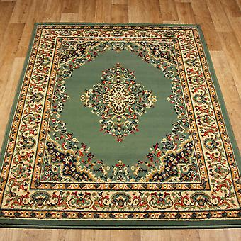 Keshan Rugs 112 G Green Aubusson