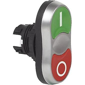 Double head pushbutton Front ring (PVC), chrome-plated Green/red BACO L61QB21B 1 pc(s)