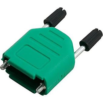 D-SUB housing Number of pins: 15 Plastic 180 ° Green MH Connectors MHDPPK15-G-K 1 pc(s)