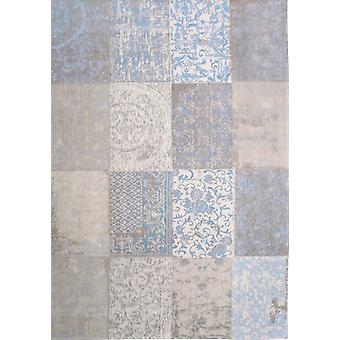 Gustavian Blue Shabby Chic Patchwork Rug  - Louis de poortere