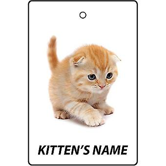 Personalised Scottish Fold Kitten Car Air Freshener