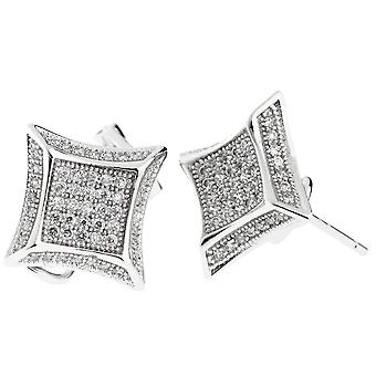 925 Silver MICRO PAVE earrings - RELAX 10 mm