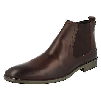 Mens Base London Pull On Chelsea Boots Saffron