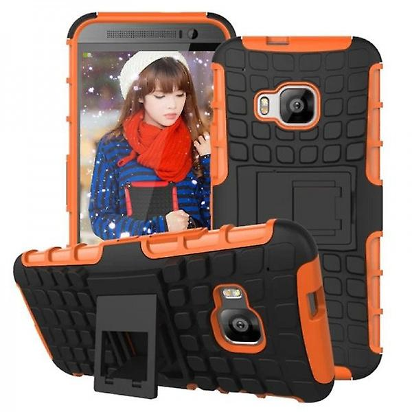Hybrid case 2 piece SWL robot Orange HTC one 3 M9 2015