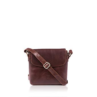 Ceroso Cross Body Bag in Cognac