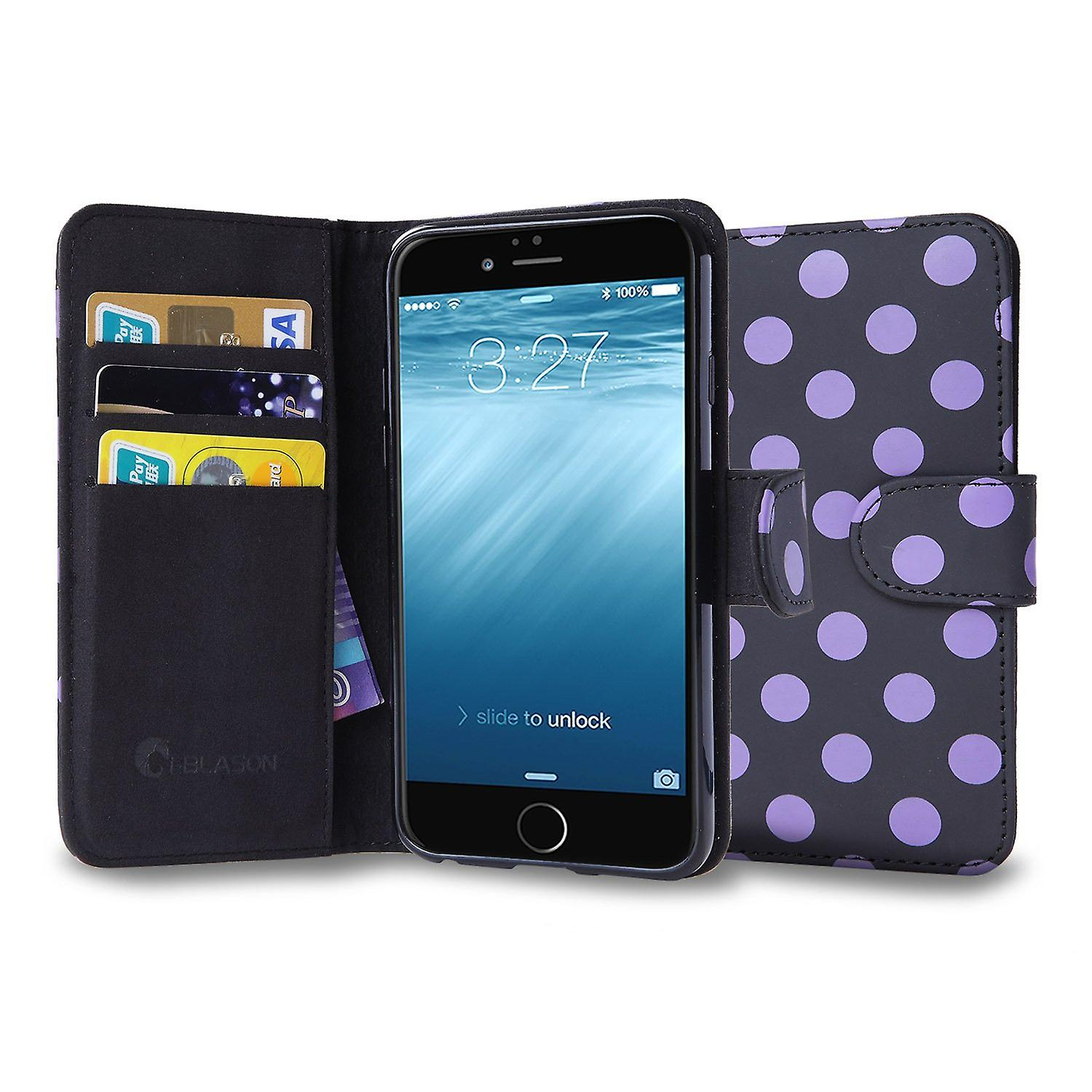 iPhone 6 4.7 Case, i-Blason,  Leatherbook Case for Wallet and ID Holders-Black