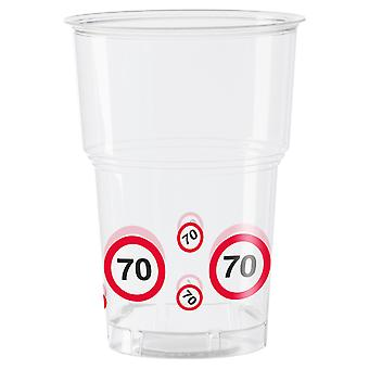 Cup 10 PCs traffic sign number 70 birthday mug 350 ml party