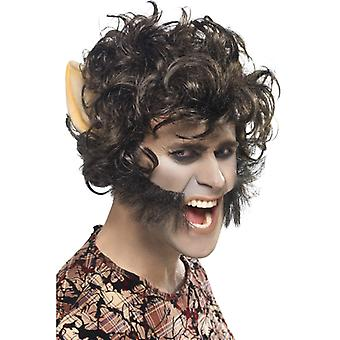 Werewolf wig with beard u ears werewolf wig Monster Halloween