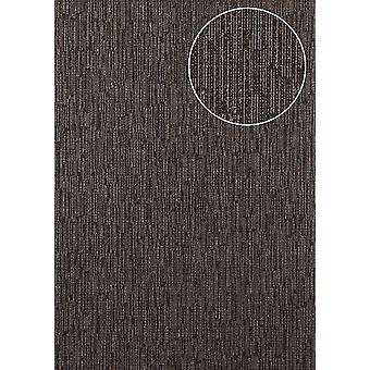 Tree wallpaper Atlas COL-725-1 non-woven wallpaper textured solid colors shimmering Brown pale brown sepia brown gold 5.33 m2