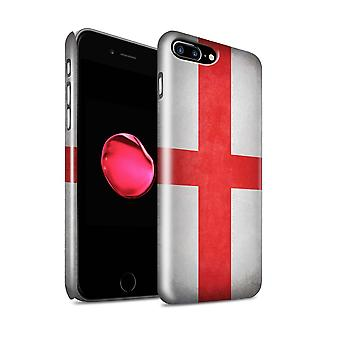 STUFF4 Glanz zurück Snap-On Handy Hardcase für Apple iPhone 7 Plus / England/Englisch Design / Flaggen Sammlung