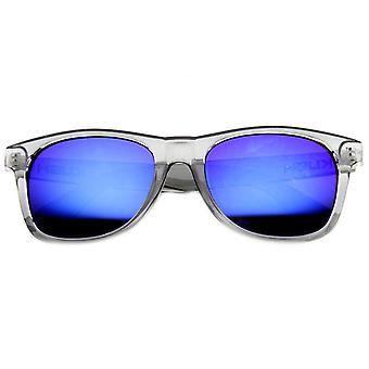 クリスタル フレーム角縁クラシック スタイルのサングラス