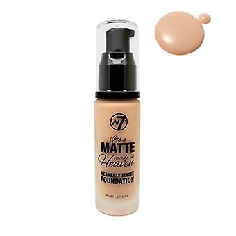W7 It's A Matte Made In Heaven Foundation True Beige 1.05oz / 30ml