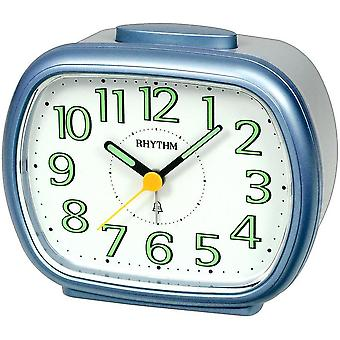 Alarm clock quartz alarm clock blue/grey square analog silent repetition Bell signal