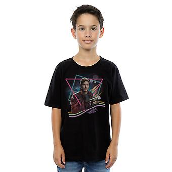 Marvel Boys Guardians of the Galaxy Neon Star Lord T-Shirt