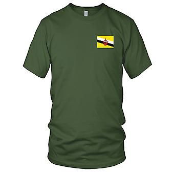 Brunei Country National Flag - Embroidered Logo - 100% Cotton T-Shirt Kids T Shirt