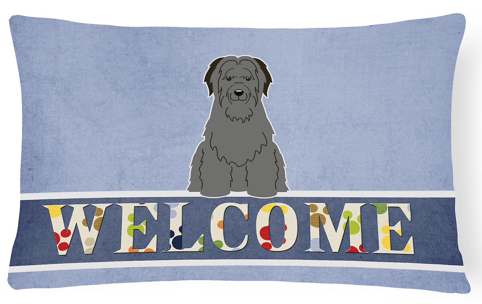 Décoratif Bienvenue Oreiller Briard Toile Tissu Noir PXkZOuwTi