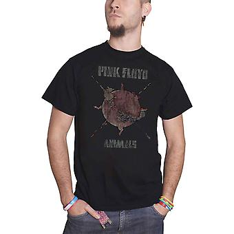 Pink Floyd T Shirt Animals Sheep Chase vintage new Official Mens Black