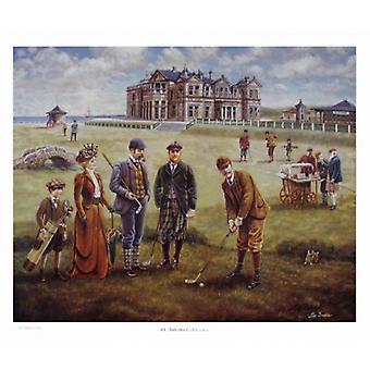 Impresión del cartel de St Andrews Golf Course por Lee Dubin (33 x 27)