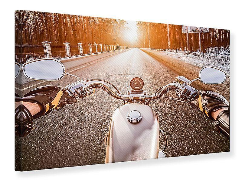 Impression de toile sur une moto