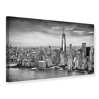 Cidade de Nova York Skyline impressão preto e branco fotografia de lona