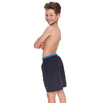 Zoggs Junior Boys Sandstone Swim Shorts Navy/Blue for 6-15 Years Children