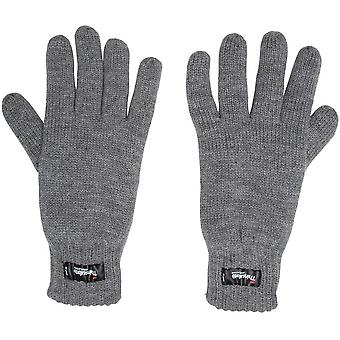 New Peter Storm Mens Thinsulate Knit Gloves Grey