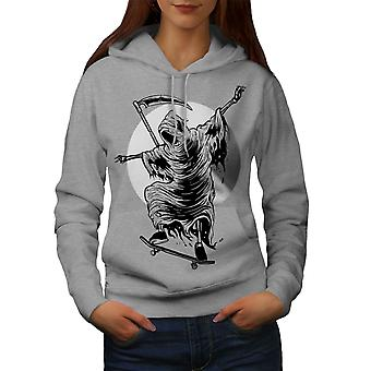 Reaper patín Horror mujeres GreyHoodie | Wellcoda