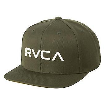 RVCA Twill Snapback III Cap - Dark Olive